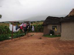 Ein Dorf in Südafrika